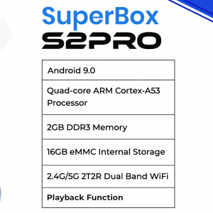 SUPERBOX S2PRO SPECS